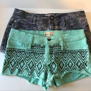 2 pair Roxy denim shorts